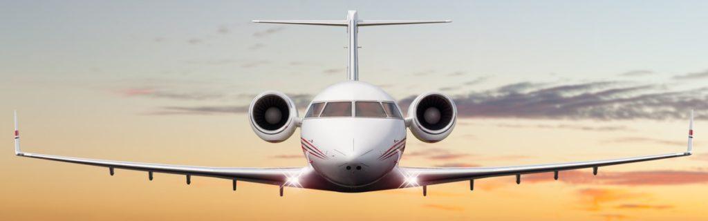 Flugzeug auf der Landung